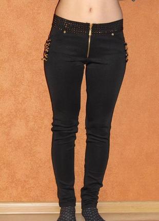 Стильные стрейчевые брюки лосины на осень  из дайвинга без флиса, размеры 42,44,46,48, снизили цену2