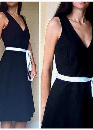 Платье длина миди черное офисный стиль