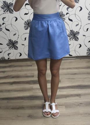 Голубая юбка xs, s