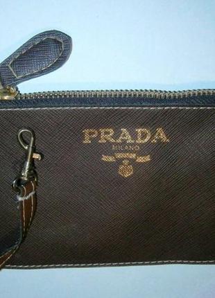 Prada milano карман в сумку на ремешке 19х10см