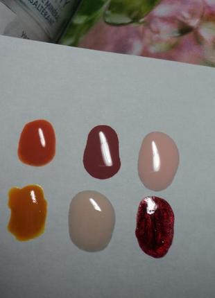 Набор лаков для ногтей 7шт+3шт orly m.a.q. bourjois avon светло-розовый вишневый оранжевый коричневы