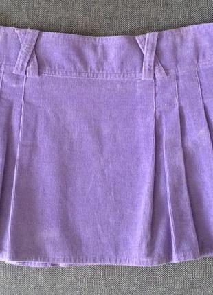 Италия! велюроваяфиолетовая мини-юбка laura biagiotti