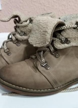 Ботинки на меху натуральный нубук1