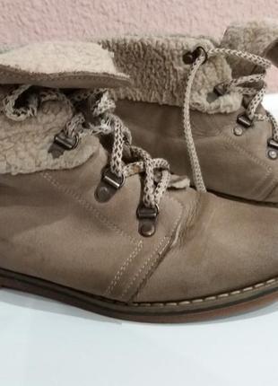 Ботинки на меху натуральный нубук3