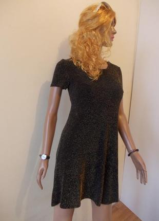Платье черное блестящее