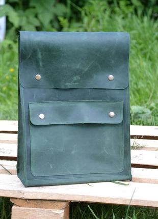 Рюкзак. натуральная кожа. ручная работа.