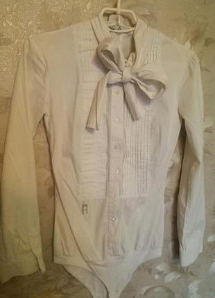 Нарядная белая блузка(боди)