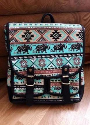 """Распродажа!!!модный рюкзак с абстракцией """"слоники"""""""