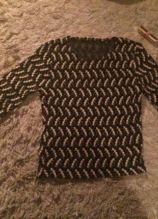 Кружевная полупрозрачная блуза ручной работы