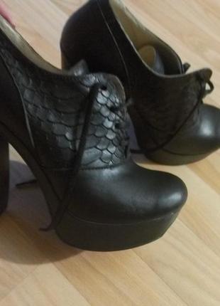 Кожаные ботинки удобные весна-осень