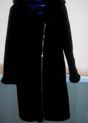 Мутоновая шубка с норкой