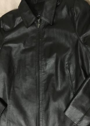 Кожаная куртка kangol