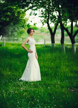 Белое платье \ вечернее \ свадебное