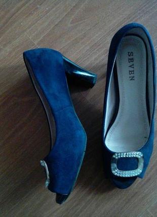 Синие туфельки 40 размер