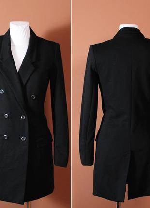 Классическое пальто-бойфренд со шлицой и узкими элегантными лацканами    ow41016    h&m