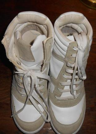 Кроссовки   сникерсы  р.38 кожа