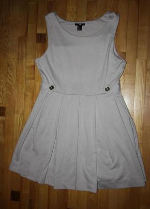 Бежевое платье h&m