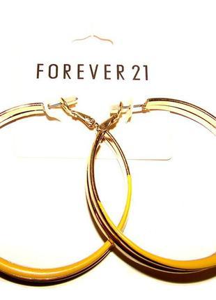 Серьги кольца forever 21