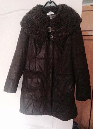 Удлиненная куртка на молнии и кнопках
