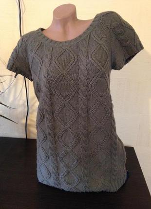 #распродажа#теплая безрукавка#туника#вязаная туника#свитер с косами#крупная вязка#