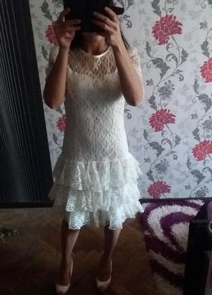 Ажурное платье h&m