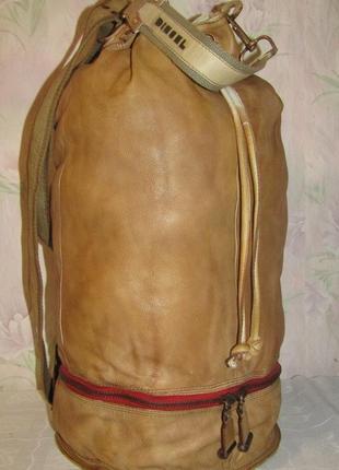 Vip- мега размер- роскошный рюкзак 100 % мраморная кожа - diesel- италия