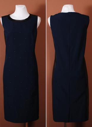 Благородное темно-синее платье для осенних дней под жакет или накидку    dr4209  joanna hope
