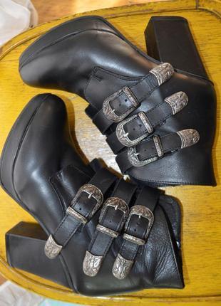 Ботинки topshop! шкіра
