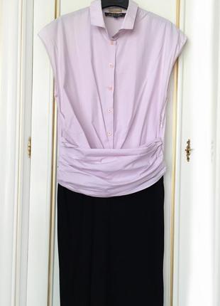 Платье до колена комбинированное paul smith black label лондон оригинал