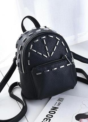 Новый небольшой рюкзак с заклепками