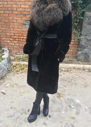 Шуба из мутона мутоновая шуба пальто