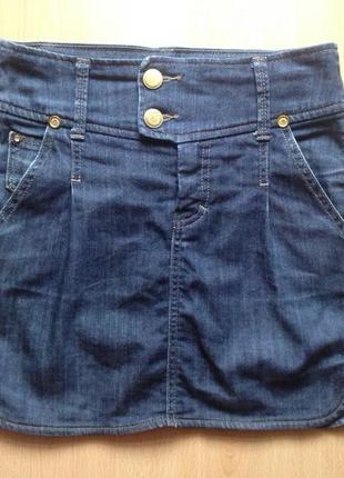 Юбка джинсовая mango xs