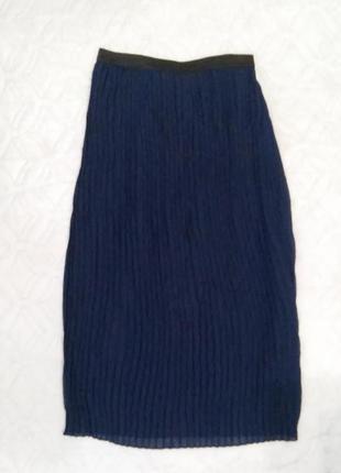 Шифоновая юбка из гафрированной ткани