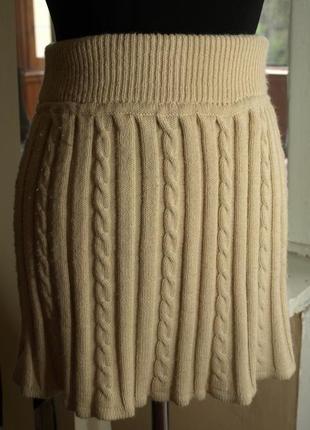 Уютная юбка в косах atmosphere р-р 8, цвет кемел, пот от 30 до 36, поб 48, длина 38.