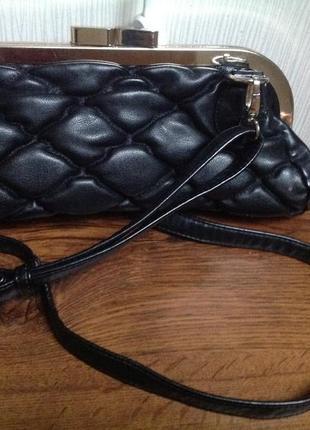 Кожанный клатч сумочка