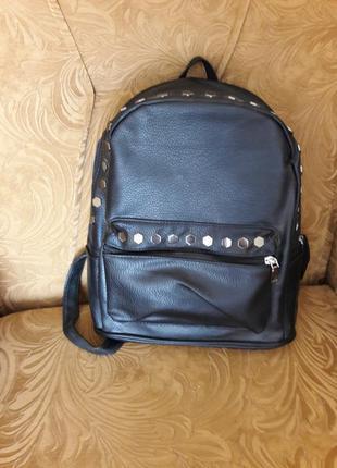 Распродажа!!!новый стильный черный рюкзак