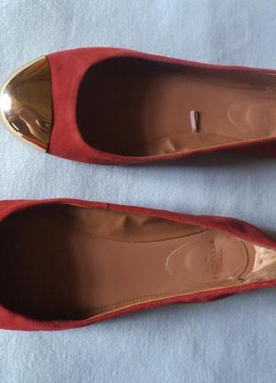 Туфли балетки mango touch