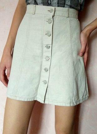 Джинсовая юбка promod