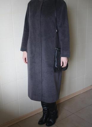 Кашемировое пальто кокон horst mandel supercashmere. 100% натуральный состав. германия.