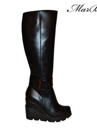 Сапоги кожаные, бренда marbari осень