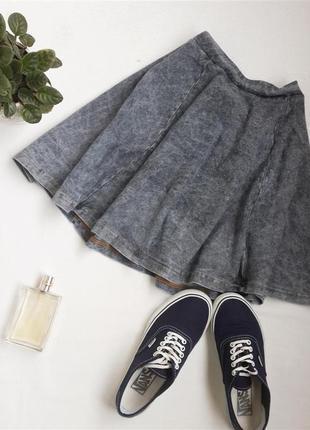 Спідниця в джинсовому стилі а-силуету від topshop