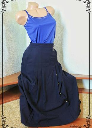 Шерстяная,винтажная,плессированая,черная юбка,высокая посадка,р.m