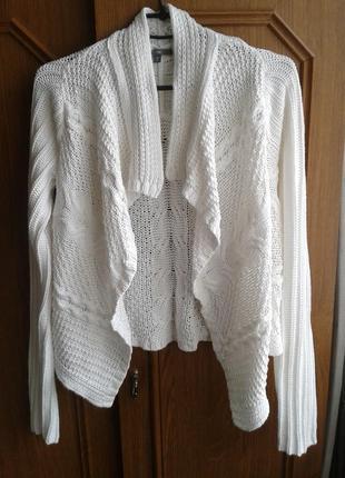 Красивый стильный снежно- белый кардиган от gap размер10-12