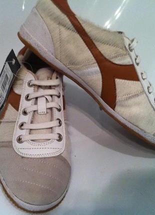 Кросовки диадора кожаные с натуральным мехом
