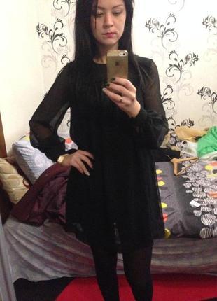 Чёрное платье h&m1