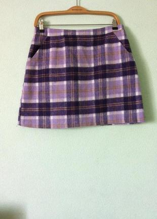 Трендовая теплая юбка topshop с кармашками