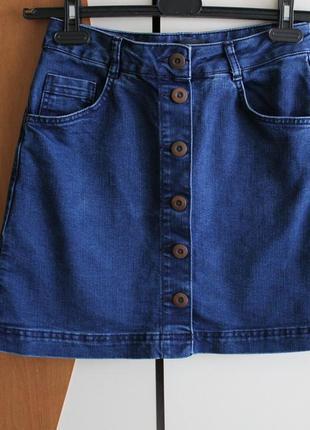 Джинсовая юбка на пуговицах topshop