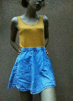 Джинсова юбка-сонце
