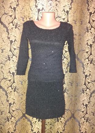 Маленькое чёрное платье  букле от zara