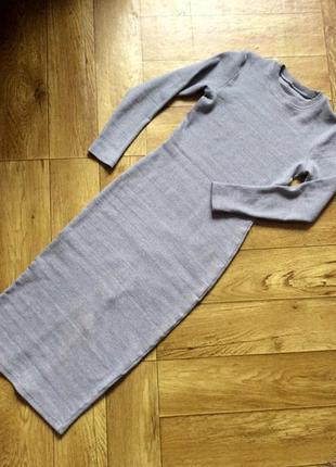 Модное платье миди с плотного коттона